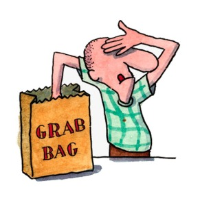 man reaching into grab bag --- Image by © Images.com/Corbis